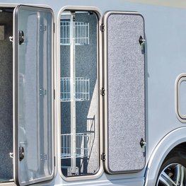 FRANKIA Motorhomes Optional Equipment – Rear Storage Compartment Pull-out System