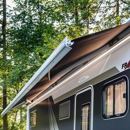 FRANKIA Motorhomes Optional Equipment – Awning with LED Lighting